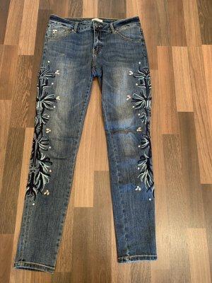 Cartoon Tube jeans veelkleurig