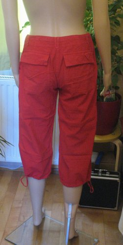 Only Capris red cotton