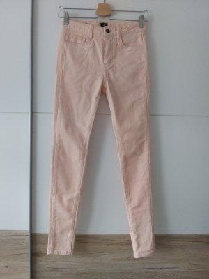 Pantalon en velours côtelé vieux rose-rosé coton