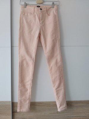Pantalon en velours côtelé rosé coton