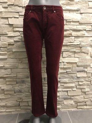 Montego Pantalon en velours côtelé rouge carmin