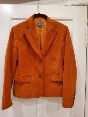 Adagio Short Blazer cognac-coloured-dark orange cotton