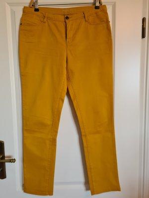 schöne curryfarbene Skinny Leg, Größe 40