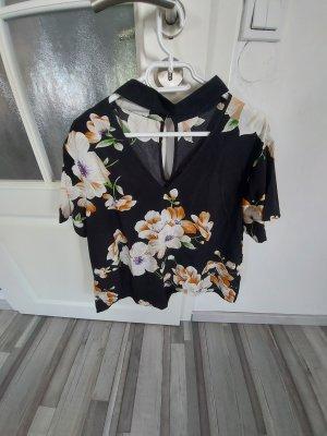 Schöne Damen Bluse  mit Blumenmuster gr.L XL