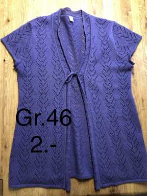 Short Sleeve Knitted Jacket lilac