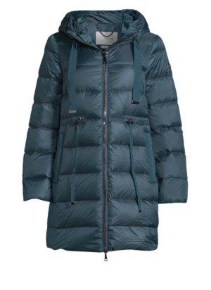 Manteau en duvet bleu pétrole