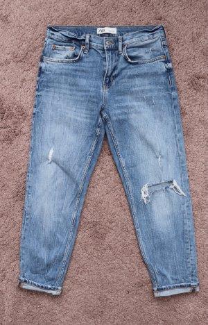 Zara Boyfriend Jeans azure-blue