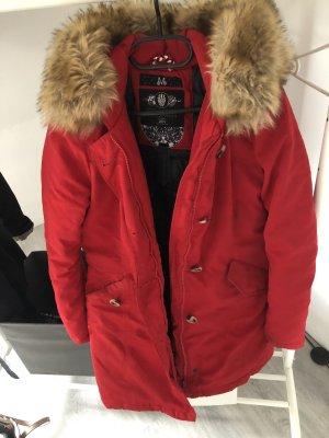 Marikoo Manteau en duvet rouge foncé-rouge brique