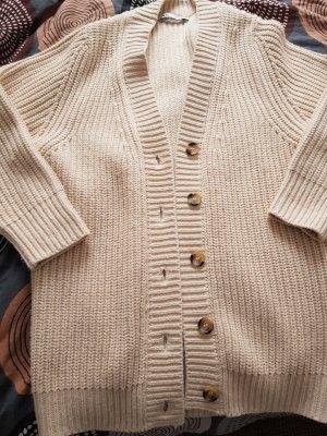 Zara Veste tricotée en grosses mailles crème