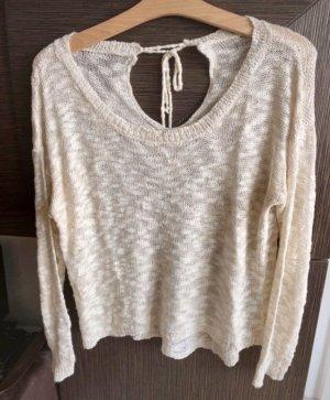 Made in Italy Crochet Shirt natural white-cream