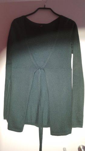 Schöne dunkelgrüne Strickjacke