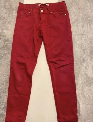 Pantalón boyfriend carmín-rojo oscuro