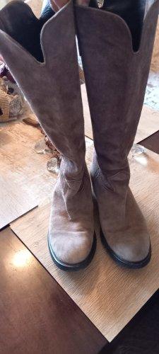 Schöne echt Leder Stiefel Größe 40