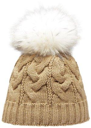 Pavuna Cappello a maglia color cammello
