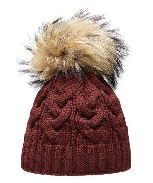 Pavuna Sombrero de piel burdeos