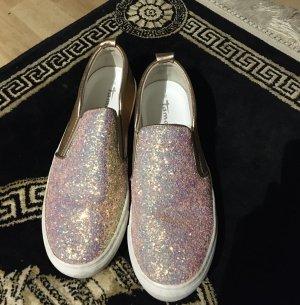 Schöne Echtleder Tamaris Sneaker Schuhe in gold Gr. 38