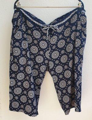 Esmara Pantalon de jogging blanc-bleu foncé