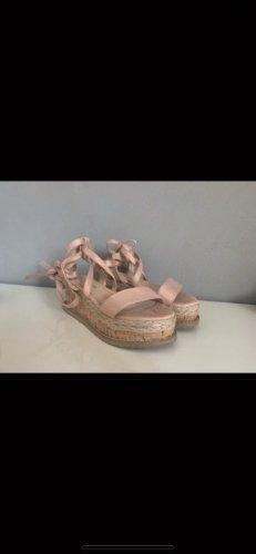 Pretty Little Thing Espadrille Sandals pink-beige