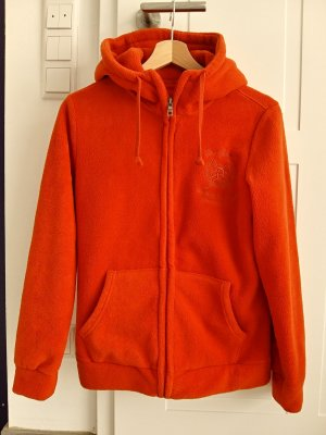 Fleece jack oranje-zalm Polyester