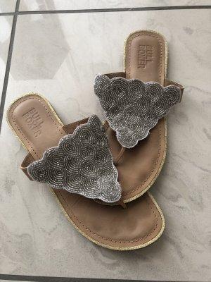 Bullboxer Flip-Flop Sandals silver-colored