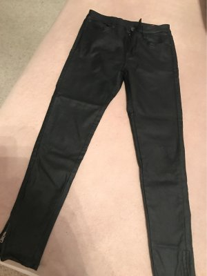 0039 Italy Carrot Jeans black cotton