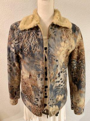 Taifun Fake Fur Jacket camel-blue