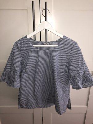 Blue Motion Długa bluzka biały-niebieski