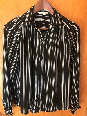 H&M Cols de blouses noir-blanc