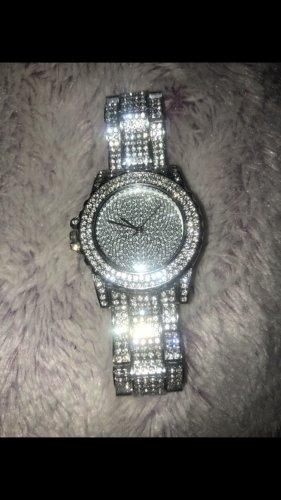 Schöne Glitzer Uhr
