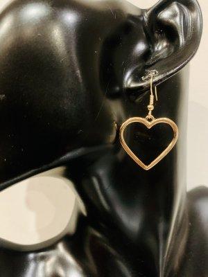 Schöne goldene Ohrstecker/Ohrringe. In Herz-Form. Ideal für Verliebte...