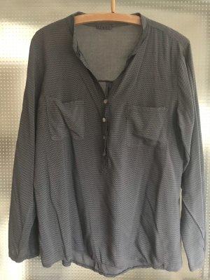 Schöne grau /blaue Bluse