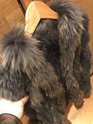 Fur vest multicolored alpaca wool