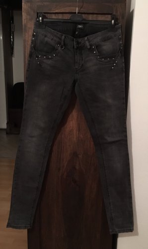 Only Stretch jeans donkergrijs