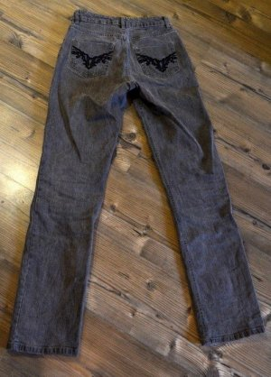 Hoge taille jeans zilver