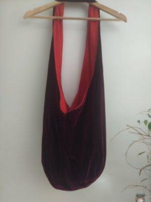 Bolso de tela rojo oscuro