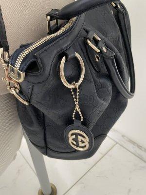Gucci Handtas donkerblauw Leer