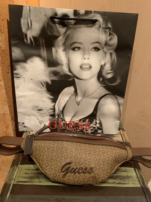 Guess Bumbag brown-silver-colored