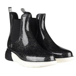 Ella Grus Gumowe buty czarny-biały