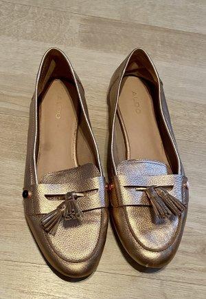 Aldo Zapatos sin cordones color oro-color rosa dorado