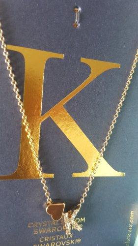 """Schöne Halskette mit Swarovski Steine  Buchstabe """"K"""" von Six"""