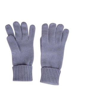 Gants en tricot bleu azur