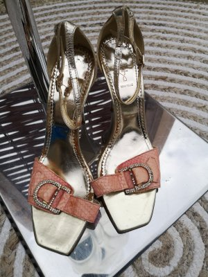 Alisha Strapped pumps gold-colored-pink