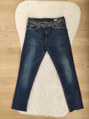 Schöne High Waist Crop-Jeans
