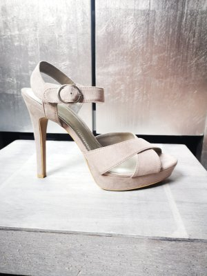 Schöne Highheels von Zara Gr 41 hellgrau Sandalen Sandaletten High Heels grau