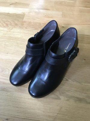 Zanon & Zago Chaussure à talons carrés noir cuir