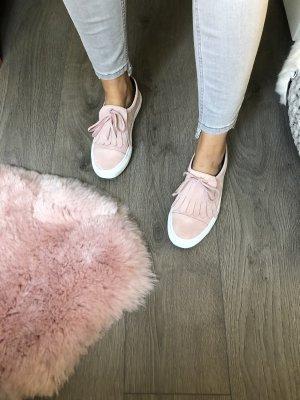 Zara Zapatos formales sin cordones rosa