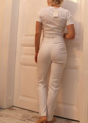 by Malene Birger High Waist Trousers white