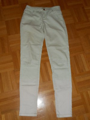 Be only Five-Pocket Trousers pale green-natural white cotton