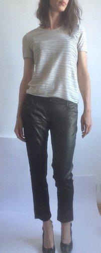 Bodyright Pantalón de tubo negro-color oro