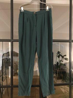 Selected Femme Spodnie z zakładkami leśna zieleń
